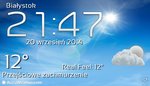 Samsung Galaxy Based Accuweather Widget With Clock by Slavoo123