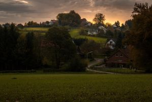 Village Sunrise by ChewyFloyd