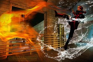 Avatar: Aang Fire vs Water by Brucer007