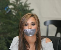 Demi Lovato tape gagged by ikell