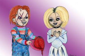 Chucky and Tiffany Valentine by Psychodelicategirl