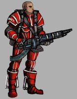 Commission - Systems Alliance Soldier by TheLivingShadow