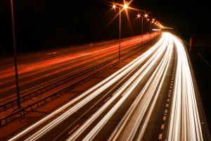 M25 Motorway Traffic Trails 2 by fruitycube