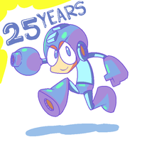 HAPPY BIRTHDAY MEGA MAN! by FuPoo