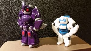 Chibi Chubs: Cyclonus And Tailgate by Laserbot