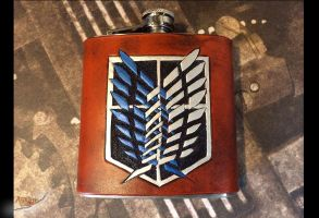 Survey Corp on Leather Flask Attack on Titan by aGrimmDesign