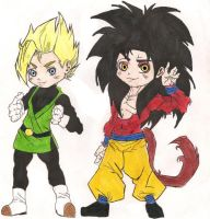 SSJ Gohan and SSJ4 Goku by sylargrey11