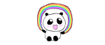 Rainbow Panda by Tinkalila