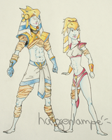 MA - Jakal and Chani by halogenlampe