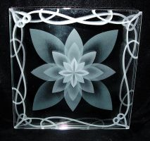 Lotus layerd etched glass by ImaginedGlass
