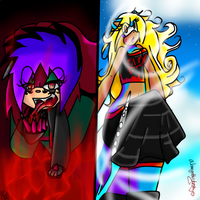 Down In Hell And Up In Heaven by alonegothictomboy