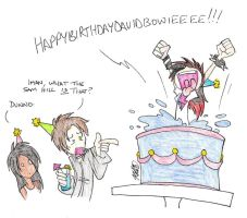 Bowie Birthday Suprise by rocket-soda
