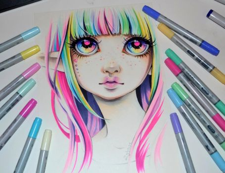Rainbow Elf by Lighane