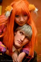 Spice and Wolf, Holo and Lawrence Closeup by firecloak