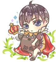 Kageyama and little Hinata crow by Fuki03
