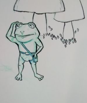 Teeny Tiny Toad scouts ahead by tedbergeron
