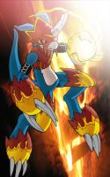 Flamedramon by tysonhesse