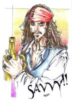 Captain Jack Sparrow by littlesusie2006