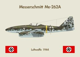 Fridge Magnet Me262 1 by WS-Clave