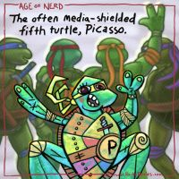 The Often Media-Shielded Fifth Turtle, Picasso by RockyDavies