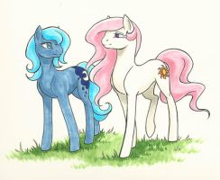 Sundrop and Moonbeam by Valkyrie-Girl