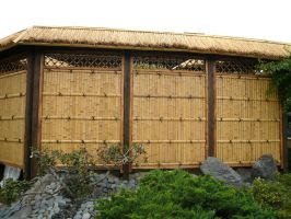 Bamboo Hut Wall by StockChroma