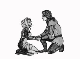 Richard rescues Anne (from the kitchen) by thePlantagenet
