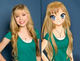 Jenette Mccurdy anime-style by MiMikuChair