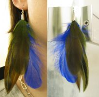 Unique Feather Earrings 10 by SPPlushies