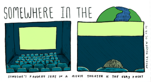 Somewhere in the World: Movie Theaters by pikarar