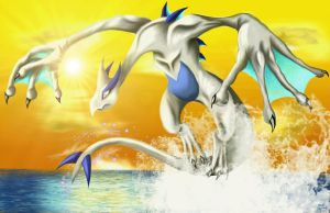 Lord of the Ocean- Lugia by Jade-Viper