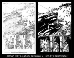 Batman One - Sample 2 - By Greg Capullo by GlauberMatos