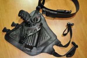 Leather Holster + Belt made for a PK Pulse Pistol by ParkersandQuinn
