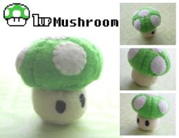 1Up Mushroom Plush by Mechashinobi-X