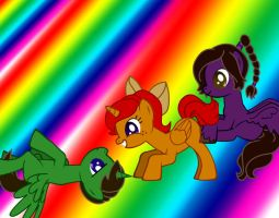 Thomas, Marie and Jazz MLP style by CrazyAdventurer