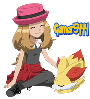 Serena and Fennekin (XY 1) by Gamer5444