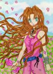Aerith Gainsborough manga style by dagga19
