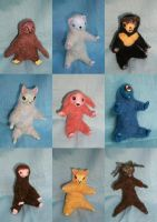 More Felted Dolls by seagnomes
