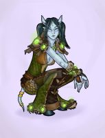 Draenei with a chance of lazy background by eri-phyle