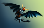 Serena rides Toothless Final by bluexco