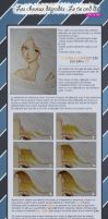 Copic Ciao tutorial cheveux Tie and Die Francais by maxicarry