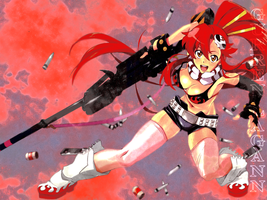 Gurren Lagann Wallpaper: Yoko by ShinobiDark72