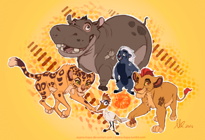 Look Out Here Comes the Lion Guard by Aiyana-Kopa