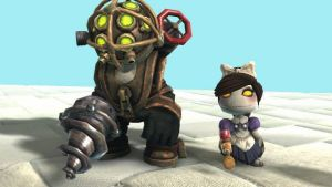 LBP2: Big Daddy and Little Sister by SpongeDudeCoolPants
