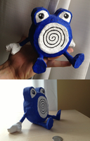 Paper Mache Poliwhirl by TheLittlestGiant