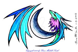 Moon Dragon Watermark by ZeitgeistDragon