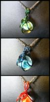 Simple Wrapped Marble Pendants by BacktoEarthCreations