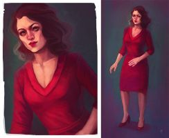 Amazing Marvel Ladies - Peggy Carter by chocolatejunkie