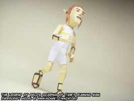 Zelda running man papercraft by ninjatoespapercraft