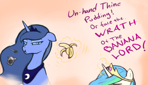 The Banana Lord Commands by poptart36